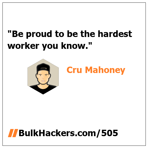 Cru Mahoney quote
