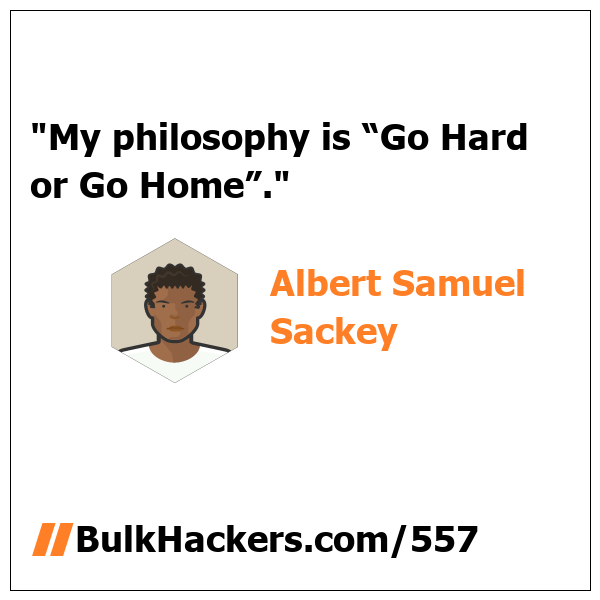 Albert Samuel Sackey quote
