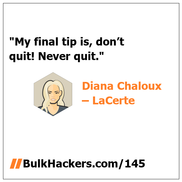 Diana Chaloux – LaCerte quote